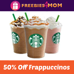 Starbucks Half Price Frappuccinos May 5-14