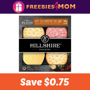 Coupon: $0.75 off Hillshire Snacking Small Plates