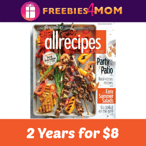 $8 for 2 Years of Allrecipes