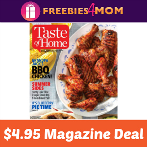 Magazine Deal: Taste of Home $4.95