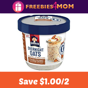 Save $1.00 on Quaker Overnight Oats Cups