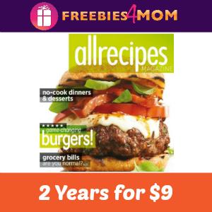 2 Years of Allrecipes Magazine for $9