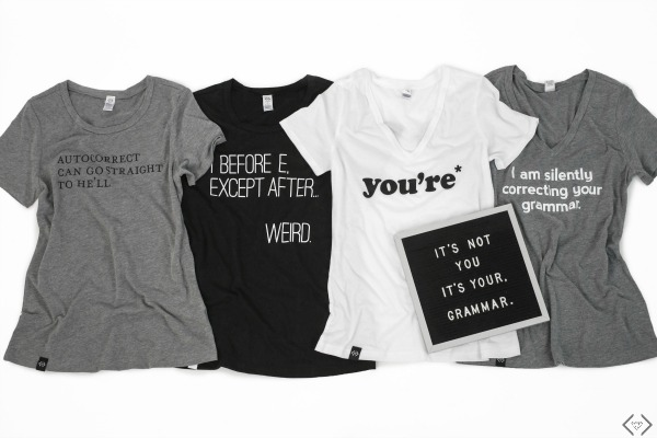 $16.95 Grammar Tees (thru Saturday)