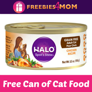 Free Can Halo Cat Food (Only Available Aug. 8)