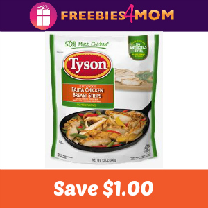 Save $1.00 on Tyson Grilled Chicken Breast Strips