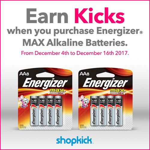 $5 Reward with $15 Energizer purchase at Walmart