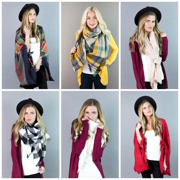 2 Blanket Scarves $20 ($50 Value)