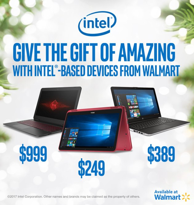 Unwrap Amazing Creativity with Intel-powered Laptops from Walmart