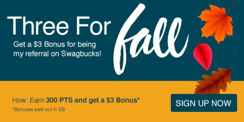 $3 Swagbucks Sign-up Bonus