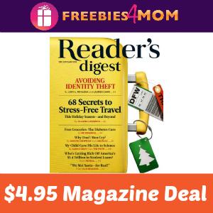 Magazine Deal: Reader's Digest $4.95