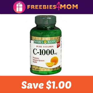 Coupon: $1.00 off any Nature's Bounty Vitamin