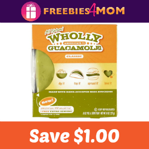 Coupon: $1.00 off any Wholly Guacamole product