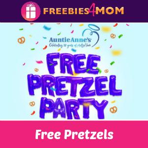 Free Pretzel at Auntie Anne's March 3