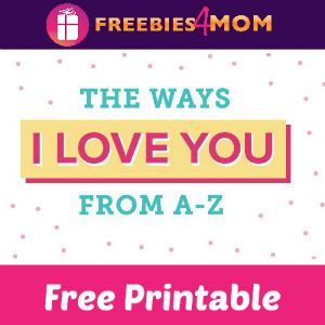 Free Printable Alphabet of Love Book