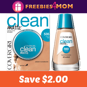 Save $2.00 on one Covergirl Face Product