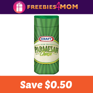 Coupon: Save $0.50 on any Kraft Parmesan Cheese