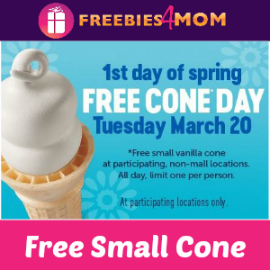Free Cone Day at Dairy Queen March 20