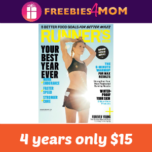 4 years of Runner's World only $15