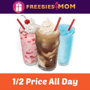 Sonic 1/2 Off Shakes, Floats & Ice Cream Slushes