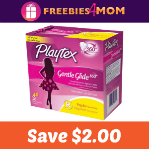 Coupon: Save $2.00 on any Playtex Gentle Glide