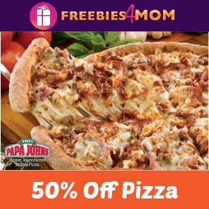 Papa John's 50% off Regular Menu-Priced Orders
