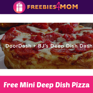 Free BJ's Deep Dish Pizza + DoorDash April 5