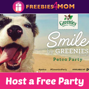 Free Smile by Greenies Treats Petco Party