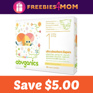 Save $5.00 on any Babyganics Box Diapers