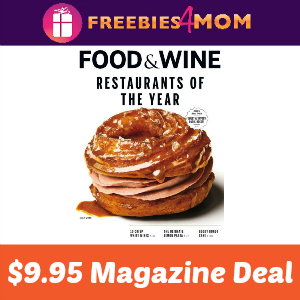 Magazine Deal: Food & Wine $9.95