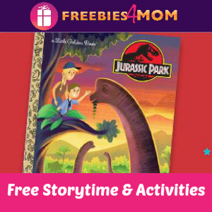 Free Jurassic Park Little Golden Book Storytime