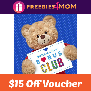 $15 Off Bonus Club Voucher at Build-A-Bear