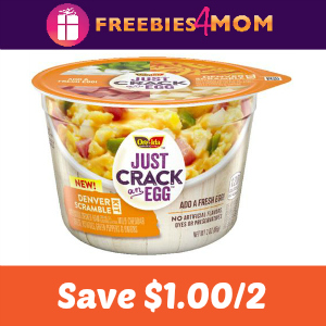 Coupon: Save $1.00 on two Just Crack An Egg