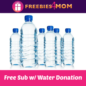 Free Sub w/Water Donation at Firehouse Subs