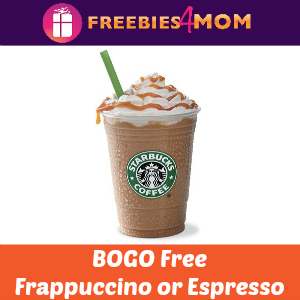 Starbucks BOGO Free Frappuccino or Espresso
