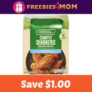 Save $1.00 on Hidden Valley Simply Dinners Kit