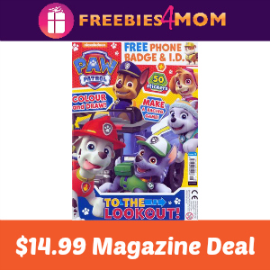 Magazine Deal: Paw Patrol $14.99
