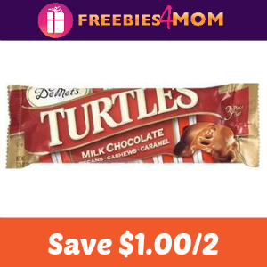 Coupon: Save $1.00 on 2 DeMet's Turtles