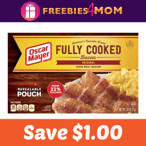 Save $1.00 on Oscar Mayer Fully Cooked Bacon