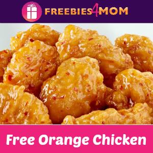 Free Orange Chicken at Panda Express