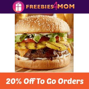 20% off Red Robin To Go Orders (thru 10/25)