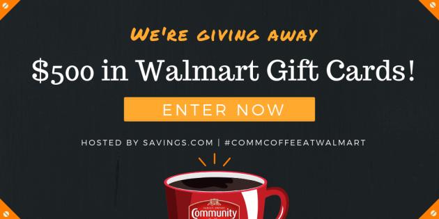 Community Coffee $500 Walmart Gift Card Giveaway