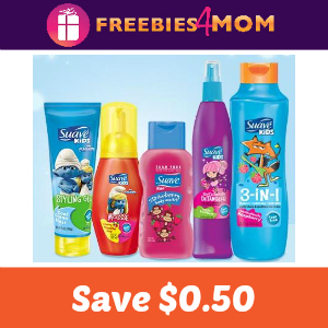 Coupon: Save $0.50 on Suave Kids