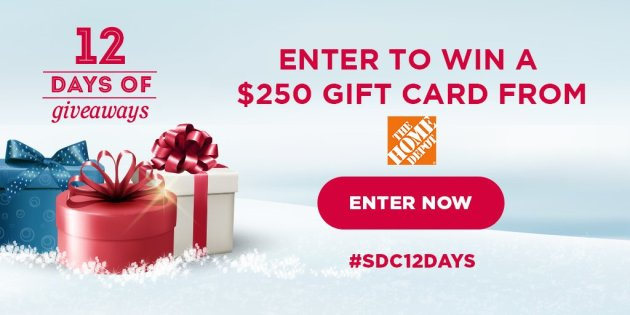 $250 The Home Depot Gift Card Giveaway
