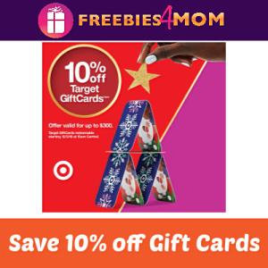 10% off Target Gift Cards Dec. 2
