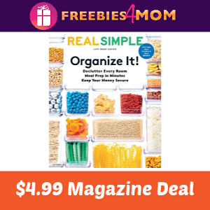 Magazine Deal: Real Simple $4.99