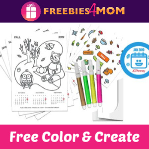 Free Color & Create Kids' Calendar at JCPenney