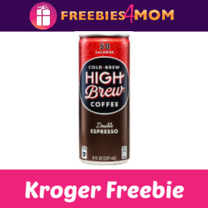 Free High Brew Cold Brew Coffee at Kroger