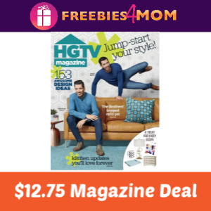 Magazine Deal: HGTV $12.75