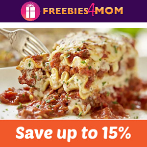 Save up to 15% at Olive Garden