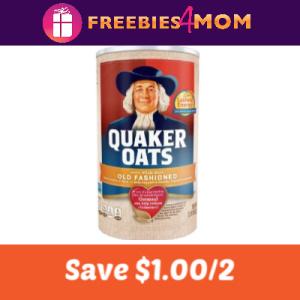 Coupon: Save $1.00/2 Quaker Oats